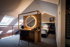 Guestroom in the Ovolo Woolloomooloo Boutique Hotel, Woolloomooloo, Austrailia