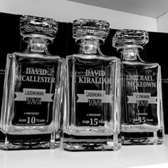 Our Whiskey Decanter is the Perfect Gift for your groomsman! Engraved with their name, position in the wedding, wedding date and years of friendship. This Whiskey Decanter is a Memorable Keepsake That Can be Used Daily – with Permanent Engraving That Will Last a Lifetime.