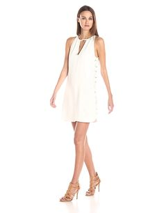 Parker Women's Riviera Side Lace Detail Sleeveless Sheath Dress -- Find out more about the great product at the image link. (This is an affiliate link) #CocktailDress
