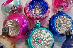 From Poland - Hand painted indent ornaments.