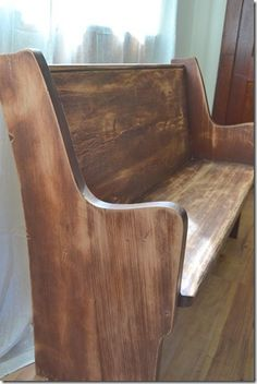 church pew - I found one of these used for my home after Suburban Church Supply replaced all the old pews in a Georgia church.