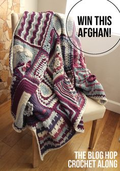 The Blog Hop Crochet Along Afghan Giveaway! - win a hand-crocheted afghan!