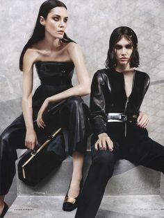 Irina Nikolaeva & Patrycja Gardygajlo by Jason Kibbler for Vogue Russia August 2013 3