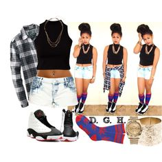 """""""Annie, you a baddie!"""", created by dopegenhope on Polyvore"""