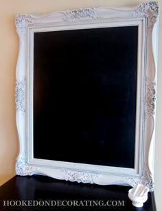 Large Ornate Frame to Chalkboard Tutorial