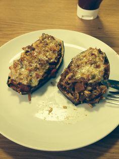 Stuffed aubergine