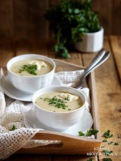 zupa krem ziemniaczana z pieczonym czosnkiem