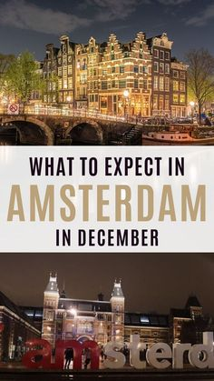 The best things to do in Amsterdam in December: travel guide - Discover the best things to do in Amsterdam in December: festivals, museum, Amsterdam Christmas market and best food to try in Amsterdam in winter. Amsterdam Travel Guide, Europe Travel Tips, Travel Usa, Travel Destinations, Travel Info, Solo Travel, Hotel Amsterdam, Winter Destinations, Travel Goals