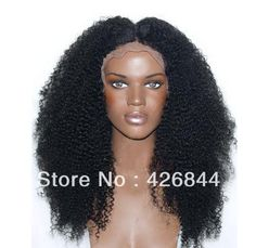 African American People Black Kinky Curly Synthetic Hair lace front wig-in Synthetic Wigs from Beauty & Health on Aliexpress.com