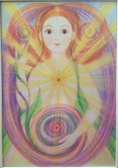 New beautiful drawing, Ivana Axman #goddess #fairy #pagan #sacredgeometry