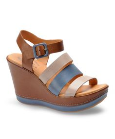 Take a look at this Blue Emily Platform Wedge by Kork-Ease on #zulily today!
