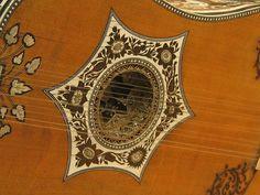 La rosace d'une guitare baroque