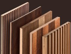 Machined Panels Wood Slat Wall, Wooden Wall Panels, Wood Slats, Wooden Walls, Wood Paneling, Panelling, Home Room Design, Home Interior Design, Living Room Designs