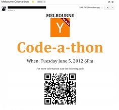 Why ruin a perfectly good e-mail with a link when a QR Code will do just…