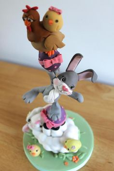 Easter animal tower - plus youtube video