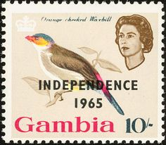 Orange-cheeked Waxbill stamps - mainly images - gallery format