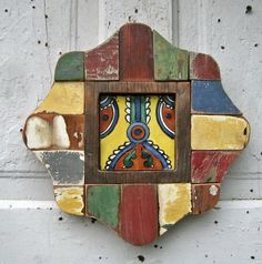handmade mosic mexican art | ... Framed Mexican Tile, Southwest Decor, Navajo Tile, Mosaic Wall Art