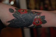 crow by Chirs David Government street tattoo