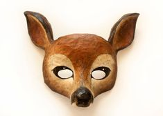 Doe. A Deer. A Female Deer  Deer Mask. Animal by NibAndChisel