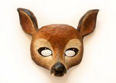 Doe. A Deer. A Female Deer! > Deer Mask. Animal Mask. Fancy Dress. Woodland. Party Mask. Animal Head. Papier Mache. Bambi