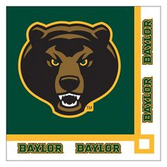 Descriptions Collegiate 2 Ply Beverage Napkins Baylor University/Case of 240 - Design : Baylor University - Capacity : 2 PLY Features - Material Paper - Baylor University - 5 inch squrare folded - 20