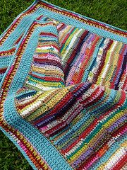 Ravelry: chitweed's Bright Ribbon Blanket for Baby Clary-Ribbon Afghan