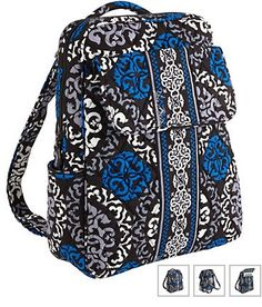 6681b61b19 Vera Bradley Small Backpack in Canterberry Cobalt - Vera Bradley  89.00 Vera  Bradley Backpack