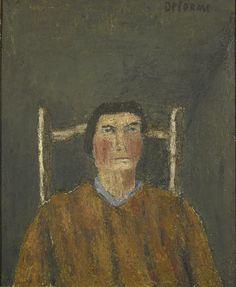 Louise Delorme (French, born 1928)  The Portrait of My Mother (Portrait de ma mère), 1961  Oil on canvas, 73 x 60 cm