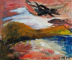 Mauno Markkula: Ruusupilvet, öljy kankaalle, 47x56 cm - Hagelstam K125