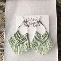 The Demelza Macrame earrings fringe earrings tassel Diy Macrame Earrings, Macrame Colar, Macrame Art, Macrame Projects, Micro Macrame, Fringe Earrings, Tassel Earrings, Crochet Earrings, Macrame Jewelry Tutorial