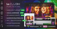 Download and review of Clubix - Nightlife, Music & Events WordPress Theme, one of the best Themeforest Entertainment themes {Download & review at|Review and download at} {|-> }http://best-wordpress-theme.net/clubix-nightlife-music-events-download-review/