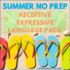 NO PREP SUMMER Speech Therapy - Receptive & Expressive Lan