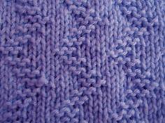 zigzag knitting pattern