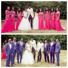 Hello beautiful people! In today's post, we will be discussing how to coordinate your wedding colors for your bridesmaids and groomsmen. So, you've selected your wedding colors, and you've also selected your best of friends to join you on the most special day of your life! Quite frankly, not a lot of couple bother about