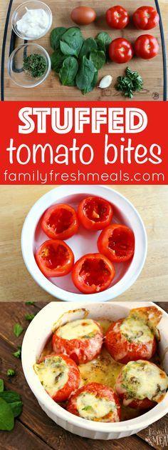 Stuffed Tomato Bites - Familyfreshmeals.com -