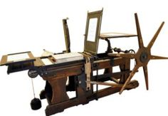 A press machine in the Printing Museum (division of the Paper and Watermark Museum) in Fabriano - Marche - Italy