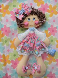 Qmimos - Fazendo Arte brincando: Boneca de pano - Lola