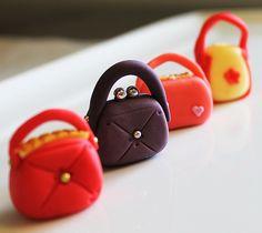 handbag cupcake toppers