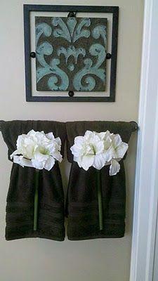 Bathroom Towel Decorating Ideas. Towels Idea For Guest Bathroom