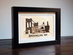 Brooklyn Print by Juggling Feats on Etsy (lovelovelove this!)