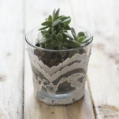 Don't toss out old candle jars, upcycle old them to create small planters or home organizers!