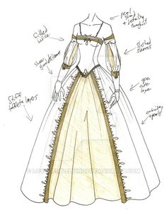 MHcd - Swanlike by on DeviantArt : MHcd - Swanlike by on DeviantArt Vuhur merchant class Dress Drawing, Drawing Clothes, Moda Medieval, Illustration Mode, Design Illustrations, Dress Sketches, Vestidos Vintage, Fashion Design Sketches, Historical Costume