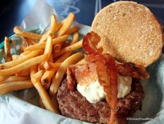 Blue Cheese and Bacon Burger at Taste Pilots' Grill at Disney's California Adventure