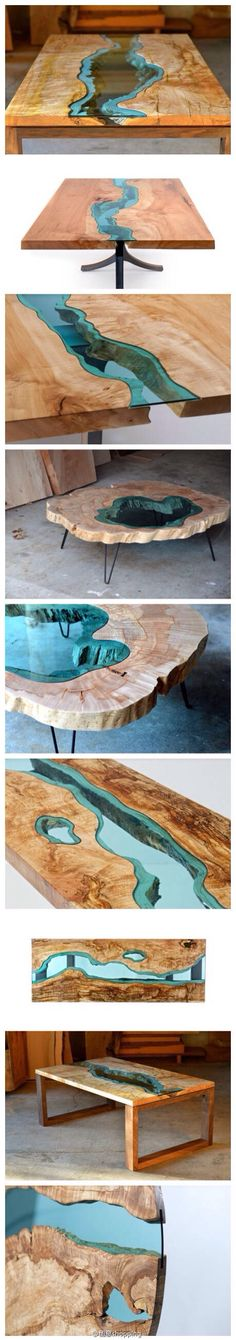 Table with lake