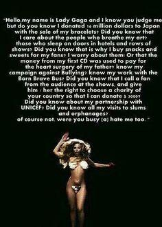 Lady Gaga  #quote :3 ♥ (cto)