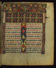 Illuminated Manuscript, Ethiopian Gospels, Incipit Page of Luke's Gospel.