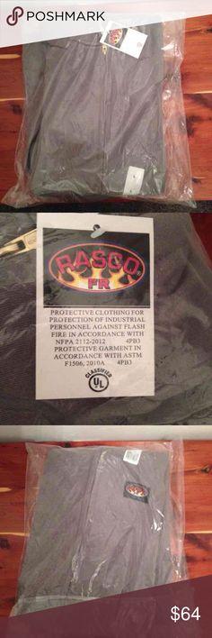 Rasco FR zip up sweatshirt Rasco FR Fire retardant zip up hooded sweatshirt. Size large. Brand new sealed in package. Multiple sizes available! Rasco FR Sweaters Zip Up