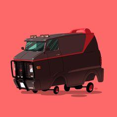 ilustraciones autos películas ban Ilustraciones de autos de películas por Ido Yehimovitz de Israel