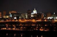 The Beautiful City of Harrisburg Pennsylvania at Night