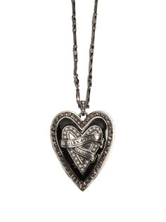 Click here to buy Alexander McQueen Heart Locket embellished pendant necklace at MATCHESFASHION.COM